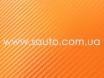 Оранжевая пленка карбон 3D, карбоновая пленка цвет оранжевый  № 5