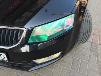 Хамелеон пленка на фары профессиональная + бронь для авто CAR-PROF