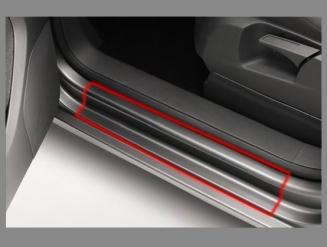 Прозрачная защитная пленка для порогов, полоса 10см. и 15см.