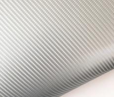 4D карбон серебро, высокое качество, микроканалы, под лаком ширина 1,52м.