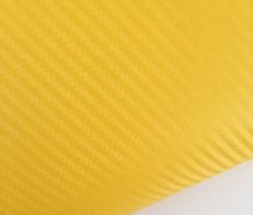 Карбоновая пленка желтая, ярко-желтый карбон 3D