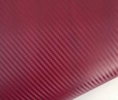 Бордовый карбон 3D TR1, бордовая карбоновая пленка.