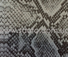 Питон кожа. Пленка под кожу питона 3d, серебристо-черная, ширина 1,52м., микроканалы