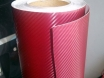 Бордовый карбон 3D TR1, бордовая карбоновая пленка. № 4