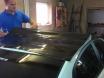 Черная глянцевая пленка с микроканалами, эффект панорамной крыши № 4