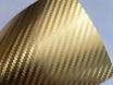 Золотая карбоновая пленка 3D хром, Carlux+ ширина 1.52м. № 2