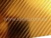 4D хром золотой карбоновая пленка, 4D карбон золото под хром, Carlux+ ширина 1.52м. № 1
