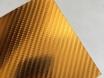 4D хром золотой карбоновая пленка, 4D карбон золото под хром, Carlux+ ширина 1.52м. № 2