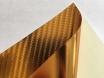4D хром золотой карбоновая пленка, 4D карбон золото под хром, Carlux+ ширина 1.52м. № 3