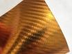 4D хром золотой карбоновая пленка, 4D карбон золото под хром, Carlux+ ширина 1.52м. № 4