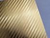Золотая карбоновая пленка 3D хром, Carlux+ ширина 1.52м. № 4
