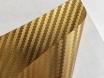 Золотая карбоновая пленка 3D хром, Carlux+ ширина 1.52м. № 5