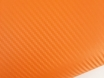 Оранжевая пленка карбон 3D, карбоновая пленка цвет оранжевый  № 1