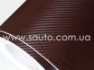 Коричневый карбон 3D, карбоновая коричневая пленка 1,27м. № 3