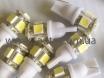 Светодиодная лампа для габаритных огней на 5 LED диодов, T10-5SMD № 2