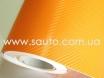Оранжевая пленка карбон 3D, карбоновая пленка цвет оранжевый  № 3