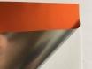 Хром мат оранжевый пленка для авто самоклеящаяся, ширина 1.52м.  № 4