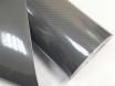 Карбоновая пленка 6D под лаком, графит (темно-серая),  супер глянец ширина 1.52м., 3-слоя № 5