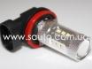 Светодиодная лампа цоколь H11, мощность 15W с линзой № 4