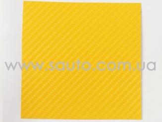 4D карбон желтый, высокое качество, микроканалы, под лаком ширина 1,52м.