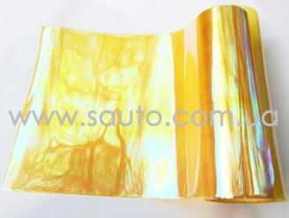 Желтая пленка хамелеон на фары 3-х слойная +защита