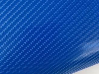 4D карбон синий, высокое качество, микроканалы, под лаком ширина 1,52м.