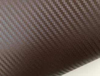 Коричневый карбон 3D, карбоновая коричневая пленка 1,27м.