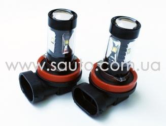 Светодиодные лампы H11, 30W Original OSRAM LED + Линза