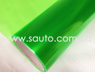 Зеленая пленка для тонировки фар, 3-слоя