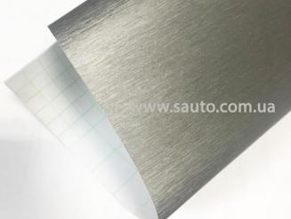 Пленка шлифованный алюминий светло-серая 3D ширина 1,52м.