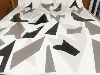 Зима (STELS) виниловая пленка камуфляж на авто, (3-слоя), ширина 1,52.м. с прозрачным защитным слоем.