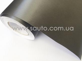 Пленка шлифованный алюминий графит, серая, темно-серая 3D ширина 1,52м.