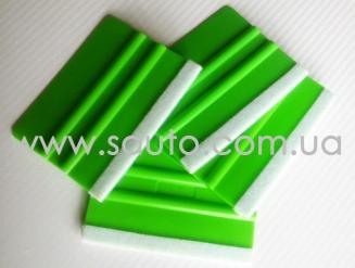 Ракель пластиковый мягкий TRIONES, с фетровым покрытием