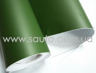 Зеленая матовая пленка для авто (зеленый болотный мат) 1,06м.