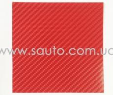 4D карбон красный, высокое качество, микроканалы, под лаком ширина 1,52м.