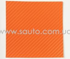 4D карбон оранжевый, высокое качество, микроканалы, под лаком ширина 1,52м.