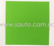 4D карбон салатовый, высокое качество, микроканалы, под лаком ширина 1,52м.