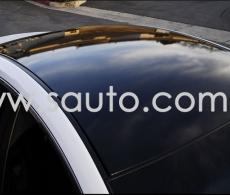 Черная глянцевая пленка с микроканалами, эффект панорамной крыши