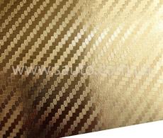 Золотая карбоновая пленка 3D хром, Carlux+ ширина 1.52м.