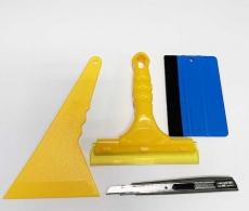 Набор 4в1- инструмент для поклейки пленки ракеля, выгонки, нож, скребок.
