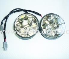 Круглые дневные ходовые огни ДХО-0012, 4LED, мощность 12W