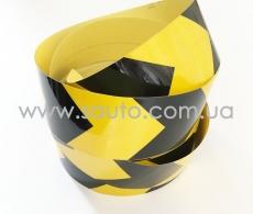 Лента маркировочная светоотражающая для автомобиля, желто-черная