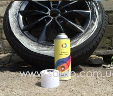 Жидкая резина аэрозоль RUBBER PAINT черная матовая 400мл.