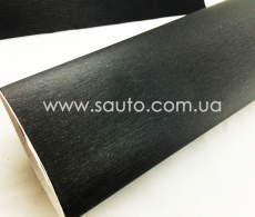 Пленка шлифованный алюминий черный, 1.52м. с микроканалами