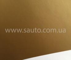 Золотая матовая самоклеящаяся пленка для оклейки авто, (виниловая+ПВХ) CarLux+ 1,52м