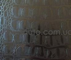 Пленка под кожу крокодила 3d черная, ширина 1,52м.