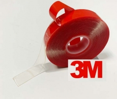 Скотч 3м двухсторонний для авто силиконовый прозрачный.