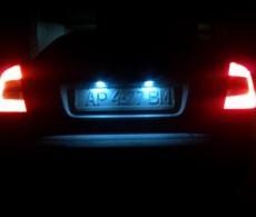 Лампа c5w светодиодная для подсветки номера автомобиля 3 LED