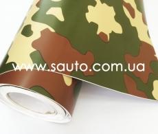 Армейская виниловая пленка камуфляж на авто, ширина 1,52.м.  с микроканалами